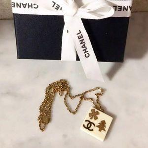 Auth. CHANEL Rare Square CC Necklace